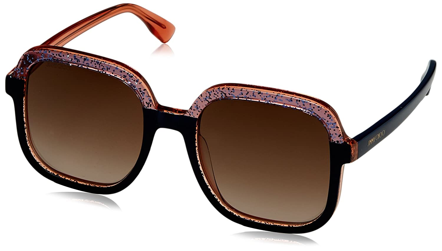4fd6af018b Jimmy Choo Glint S Sunglasses Blue Glitter Crystal Brown Gradient at Amazon  Men s Clothing store