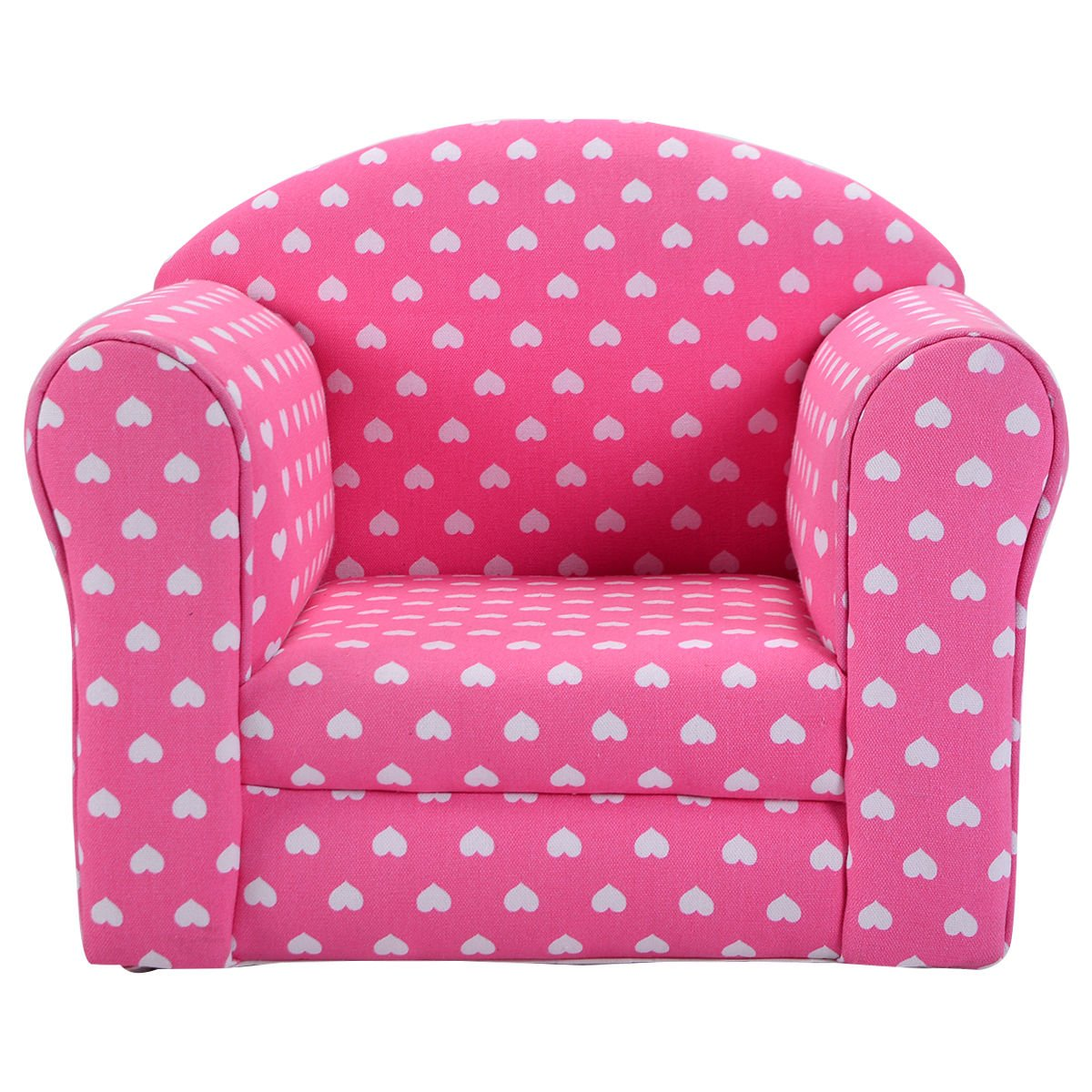 Costzon Kids Sofa Armrest Chair Couch Children Living Room Toddler  Furniture (pink)