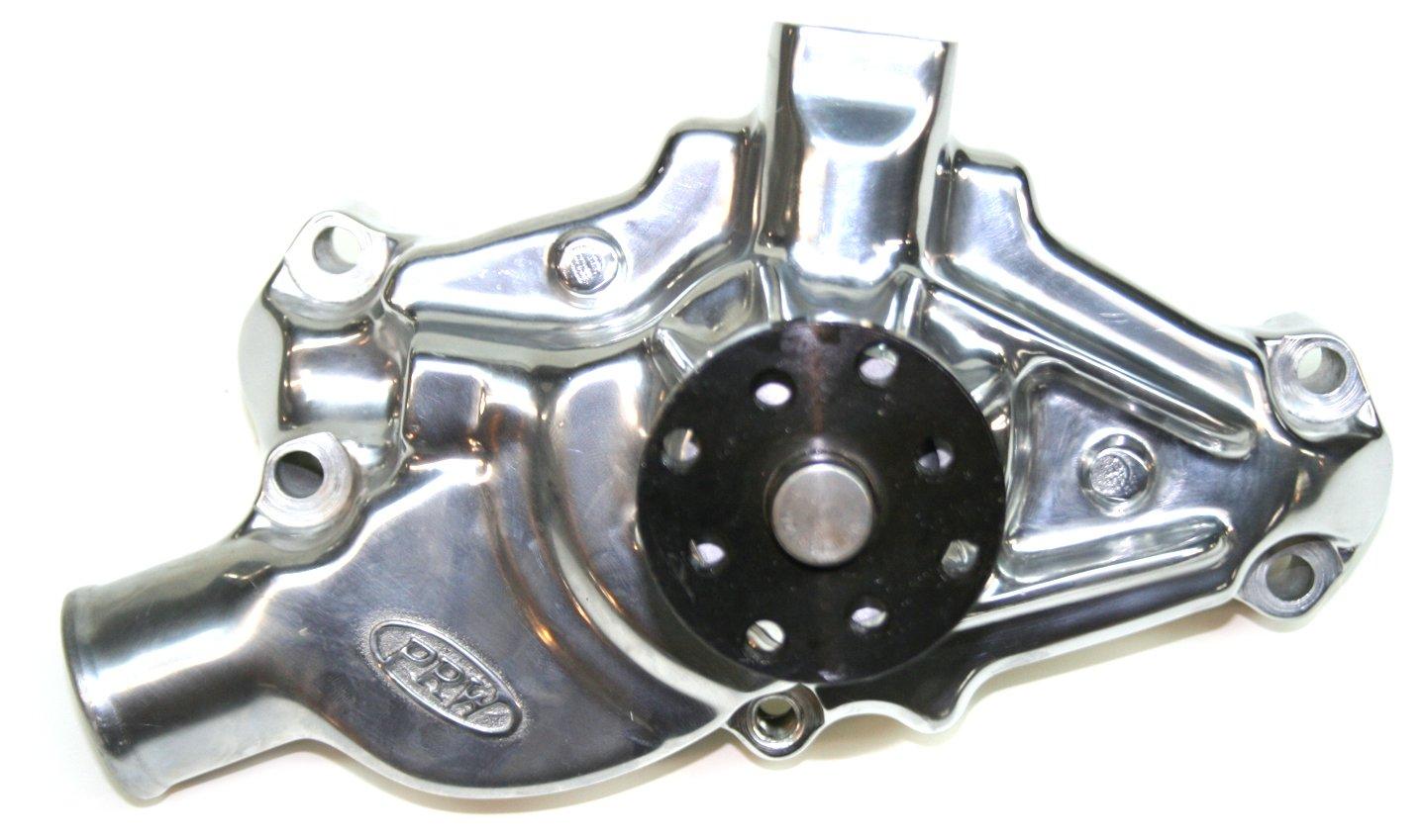 PRW 1435013 Performance Quotient Polished 3/4'' Pilot Shaft Competition Plus Aluminum Water Pump for Chevy SB Corvette 1971-82