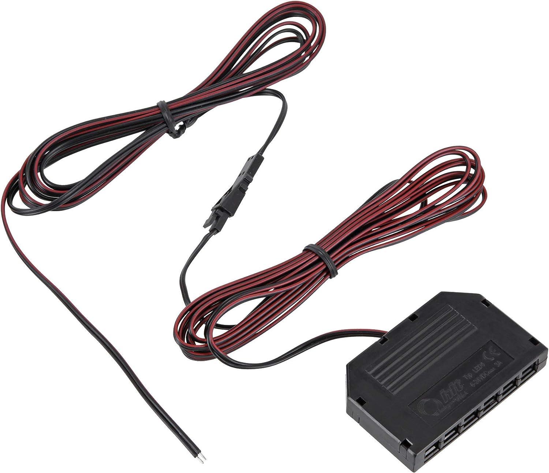 Accesorios y material de montaje para luces LED de 12 V detector de movimiento interruptor por ejemplo cable de conexi/ón fuente de alimentaci/ón distribuidor regulador de intensidad