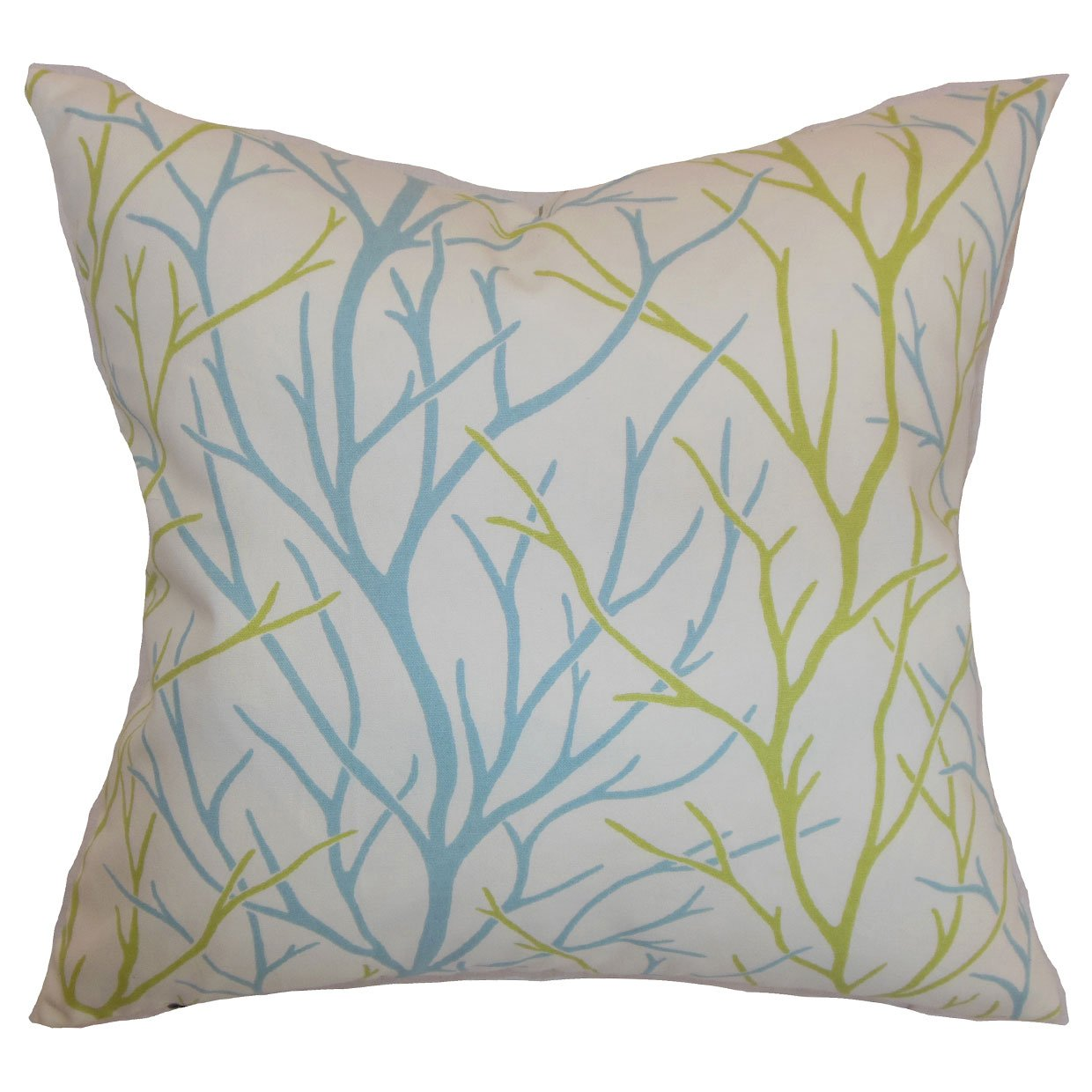 P18-D-21043-AQUAGREEN-C100 Home The Pillow Collection Fderik Trees Pillow Aqua Green The Pillow Collection Inc.