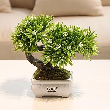 Gut Simulation Grüne Topfpflanzen, Pflanze Bonsai Insgesamt Floral Simulation  Blume Ananas Narzisse Set Home Bonsaicoffee Tisch