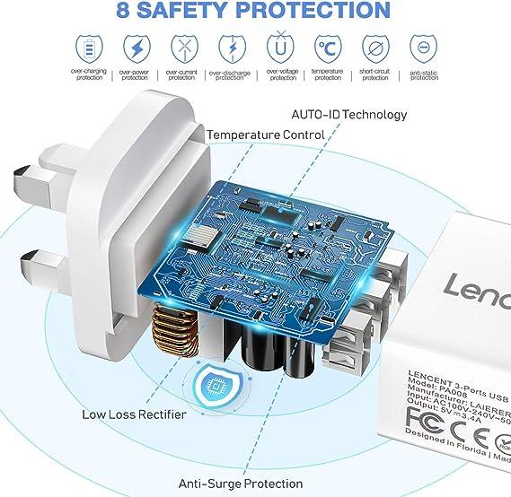Lencent USB Ladegerät [Auto ID