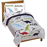 Jay Franco Trend Collector Dinosaur Roar 4 Piece Toddler Bed Set - Includes Comforter & Sheet Set - Super Soft Fade Resistant