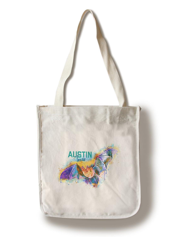 オースティン、テキサス – Bat – 水彩 Canvas Tote Bag LANT-86866-TT B07DD3PLW2  Canvas Tote Bag