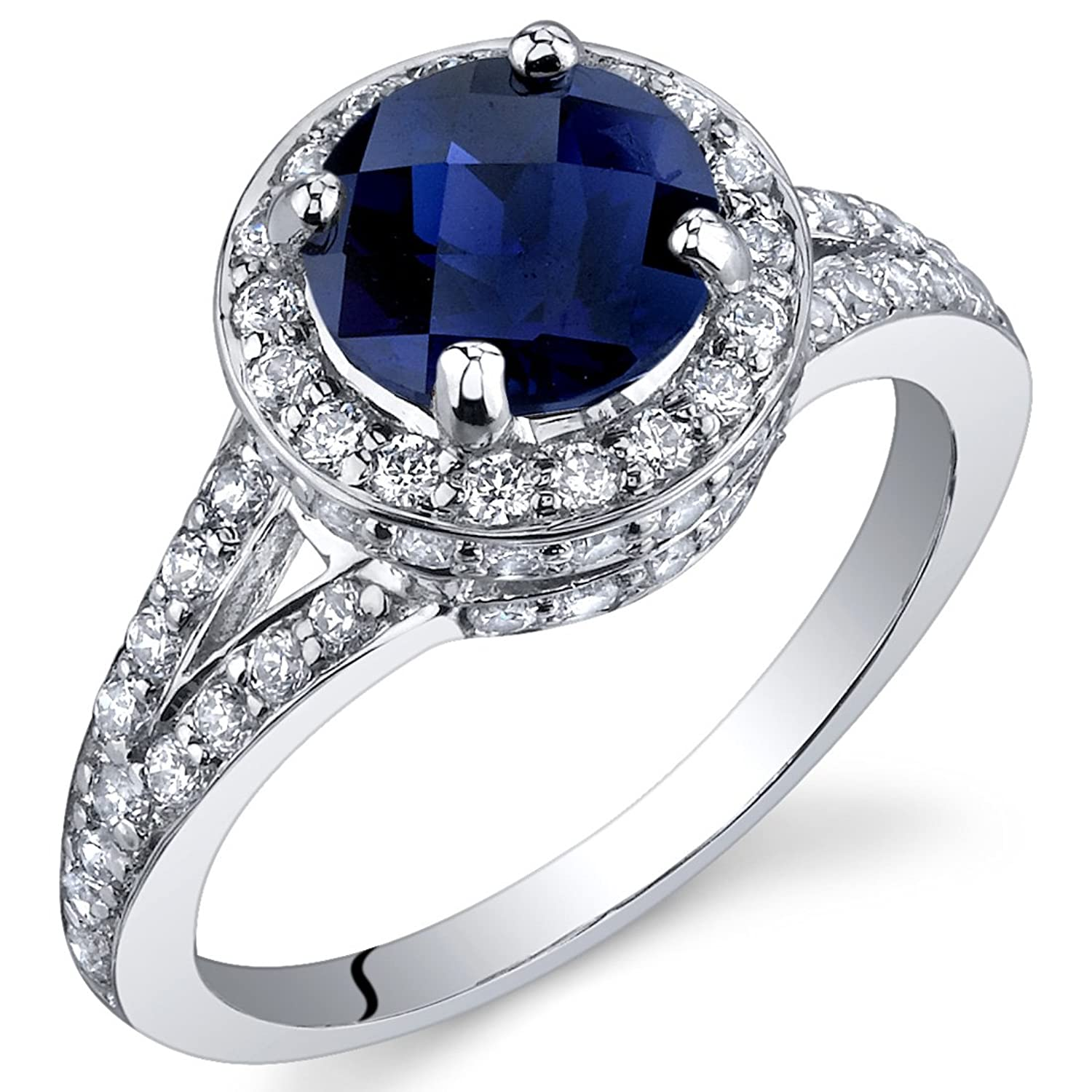 ct cushion jewelry diamond engagement blue ring royal more views platinum sapphire wedding rings