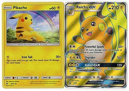 Raichu GX NM Shining Legends 29//73 Pokemon TCG