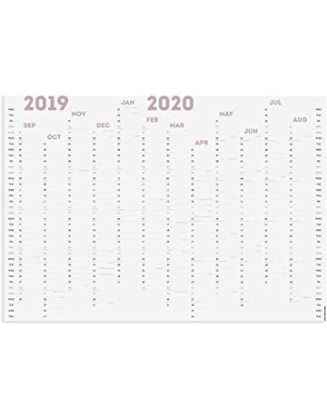 2020 Annual Wall Planner Calendar Year Yearly Plan Chart Non Laminated BLACK