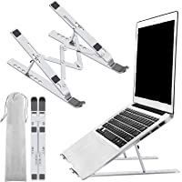 Portable Laptop Stand, JDOX Aluminium Adjustable Laptop Stand For Desk, 7 Adjustable Heights, Foldable Laptop Computer…