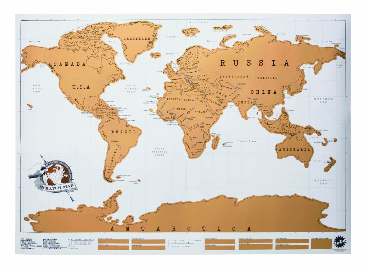 Scratch Map Original Personalised World Map By Luckies Luckies – Places I Ve Traveled Map