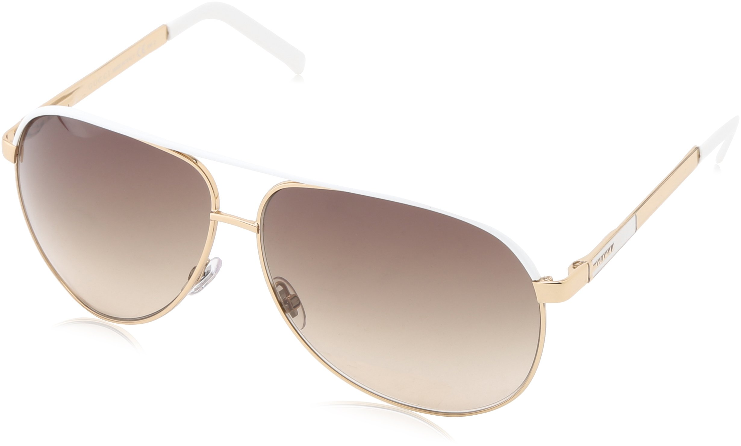 Gucci 1827/S Aviator Sunglasses,Gold Frame/Brown Grey Gradient Lens,One Size by Gucci