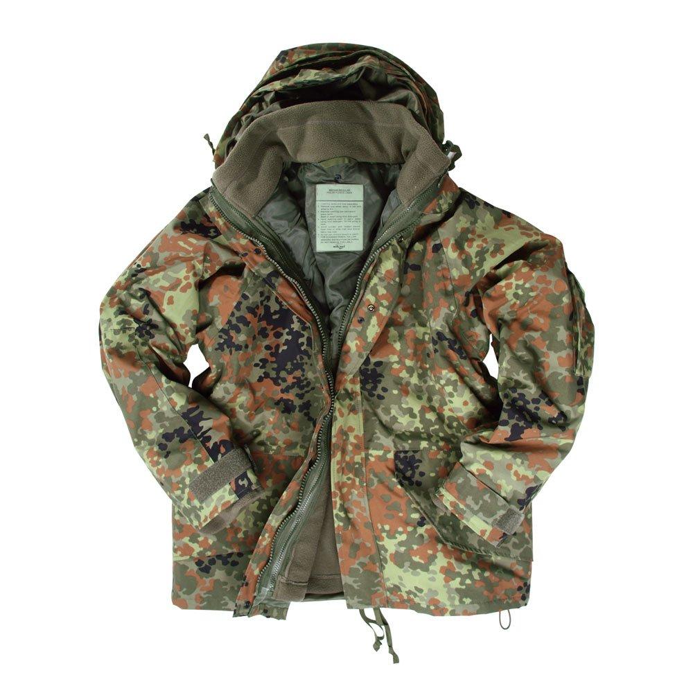 Army Waterproof ECWCS Hooded Jacket Smock Parka Fleece FLECKTARN, SIZE XXL