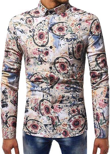 SPE969 Great Bargain Long Sleeves Patchwork Top Blouse Autumn Men