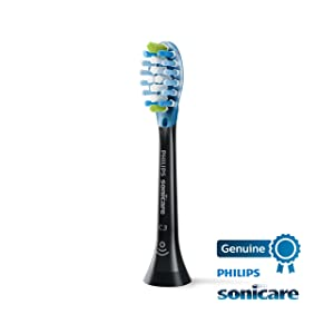 Philips Sonicare Protective Clean 6100 Navy Blue and 2 pack Premium Plaque Control Brush Head Bundle (Color: Navy Blue)