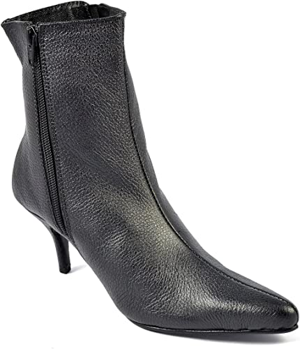 WOMENS LADIES BLACK MID HEEL STILETTO COURT SHOES ANKLE BOOTS SIZE 3 4 5 6 7 8