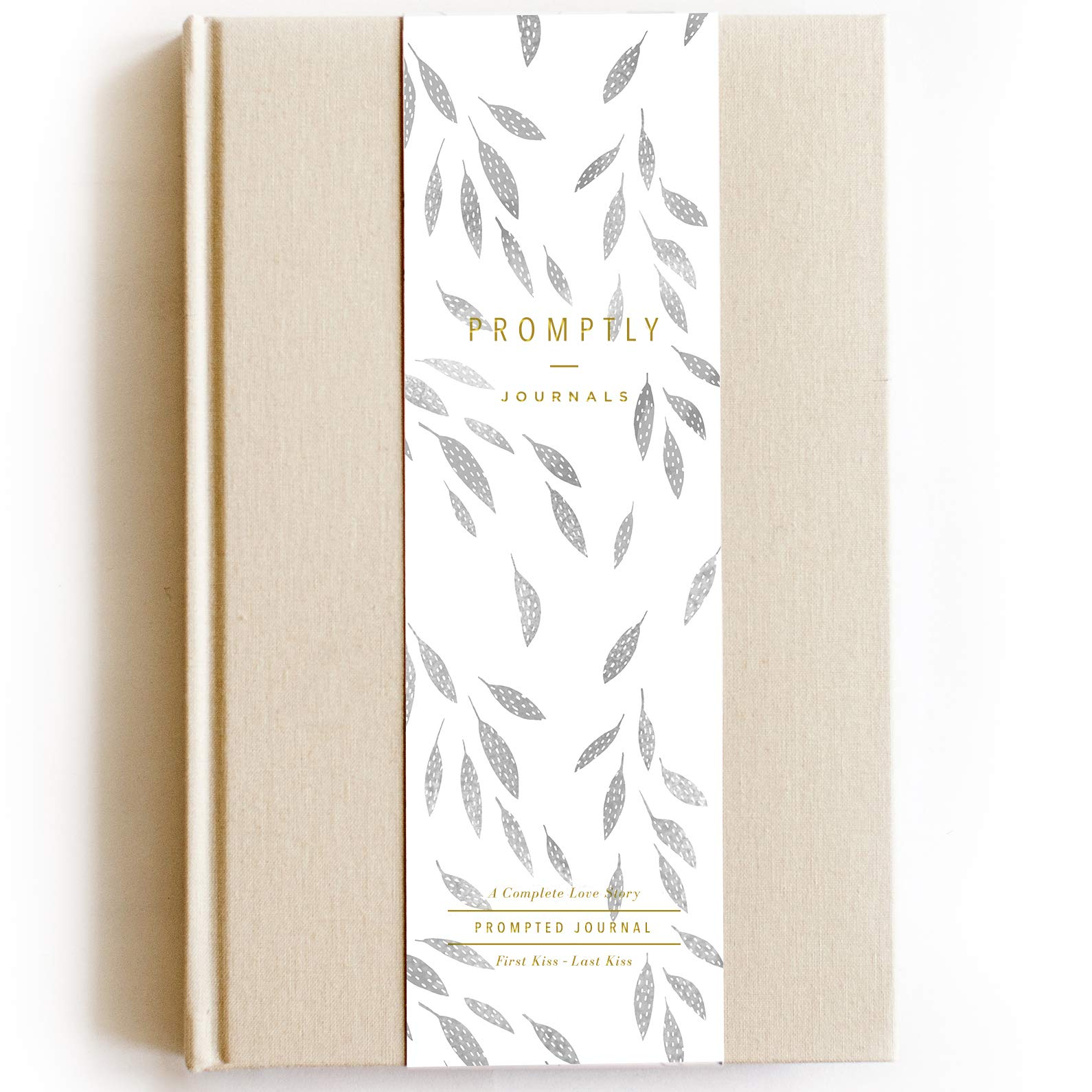 Promptly Journals - Love Story Relationship & Marriage Journal, Hundreds of Meaningful Prompts, Covers from When The Couple Met Until Their 70th Anniversary (Sand) by Promptly Journals