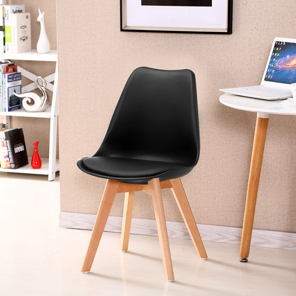 A Simple Retro Conference Chairs Negotiating Chairs Solid Wood Chairs Feet Restaurant Chairs Creative Commercial Plastic Chair Backrest Lounge Chairs Computer Chairs Size  3787cm (color   H)