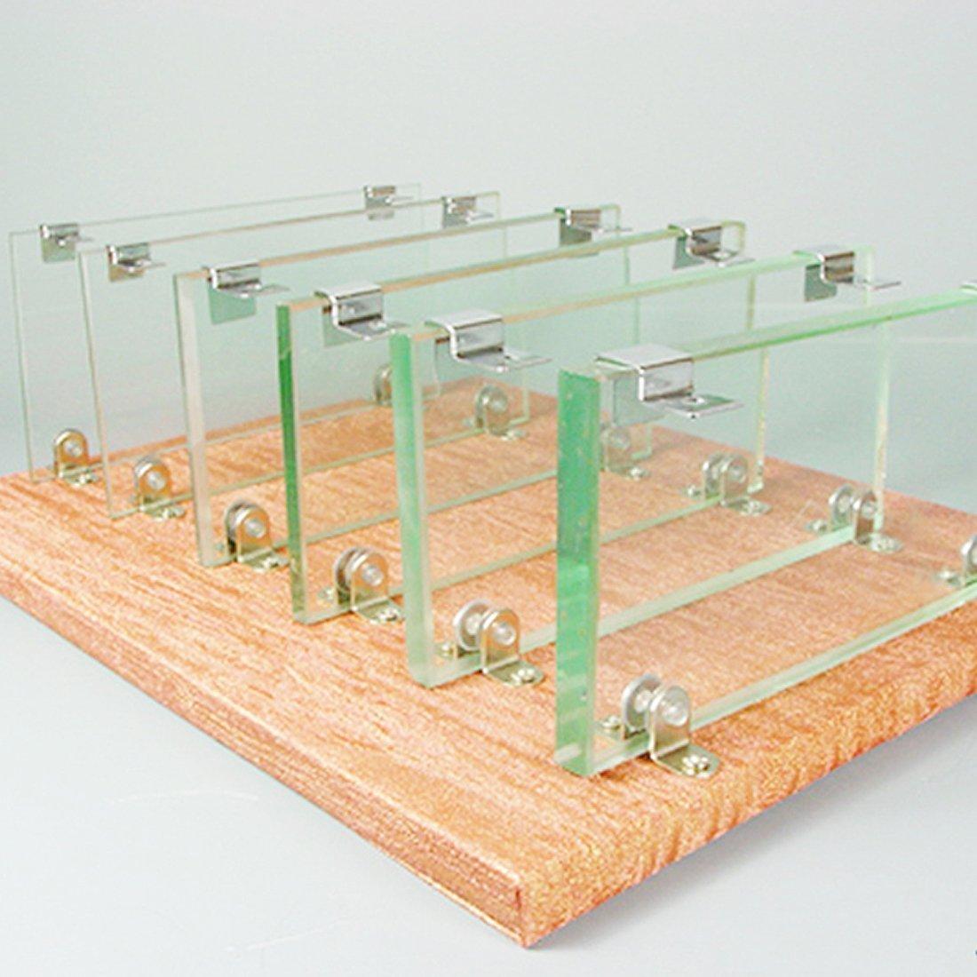 Amazon.com : eDealMax Acero peces de acuario tanque de vidrio cubierta inoxidable Pinza DE 4 PC : Pet Supplies