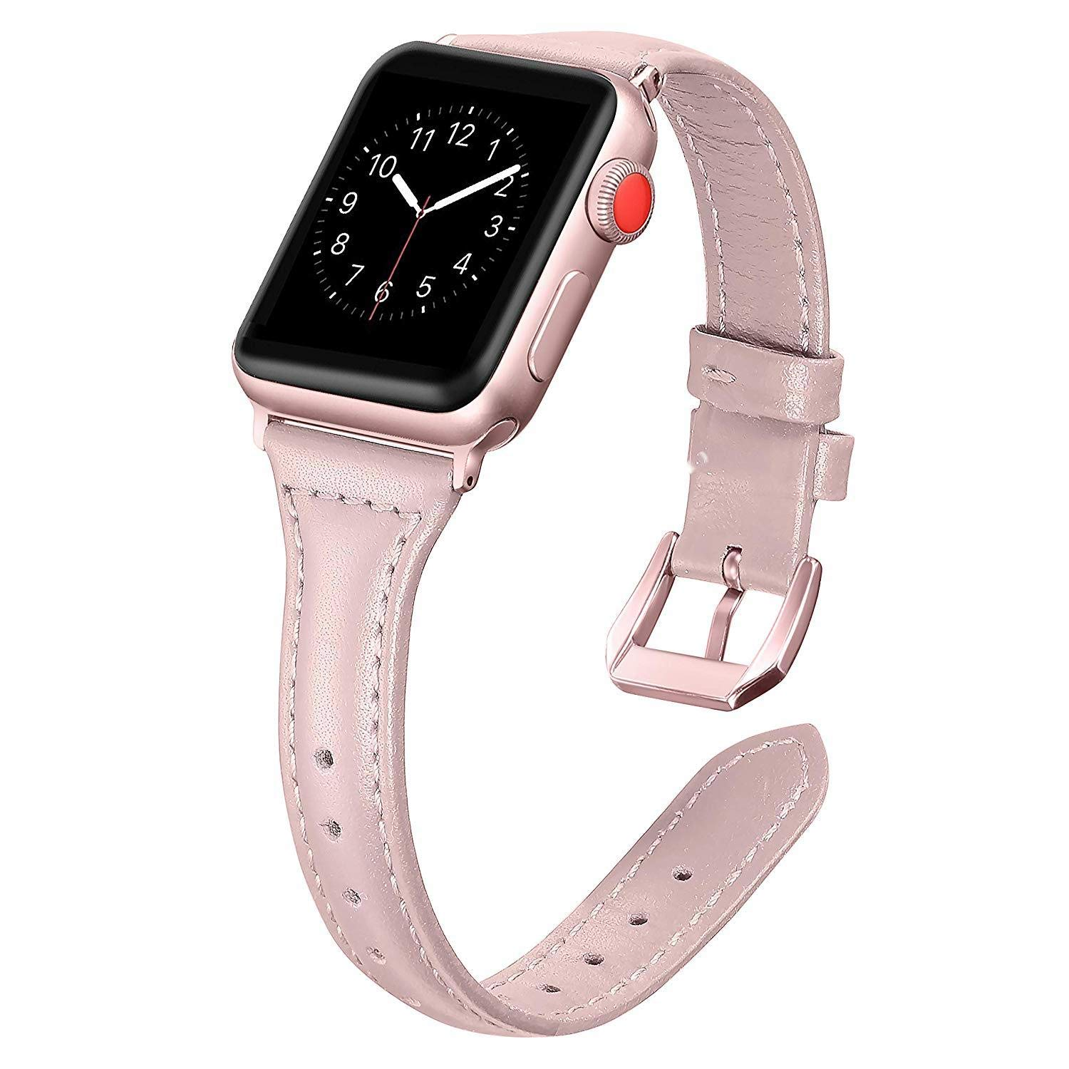 22mm Watch Band Wrist Watch Strap Top for Apple Watch Band 38mm 40 for Apple Watch Bands New for Apple Watch Band 38mm 38 Watch Holder for Women for Apple Watch 32mm Band for Apple (Pink, 38mm40mm)