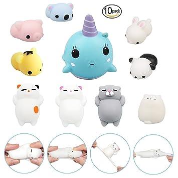 10pcs Mini Kawaii Animal Squishies Lento Aumento 3d Animales Elásticos Suaves Dibujos Animados Squeeze Juguetes Para El Estrés Relif Por Time4deals