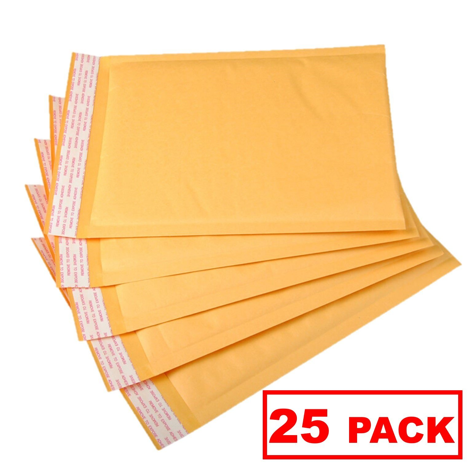 OfficeKit Kraft Bubble Mailers #5 10.5X16 inches Shipping Padded Envelopes Self Seal Cushioned Mailing Envelope Bags 25 Pack