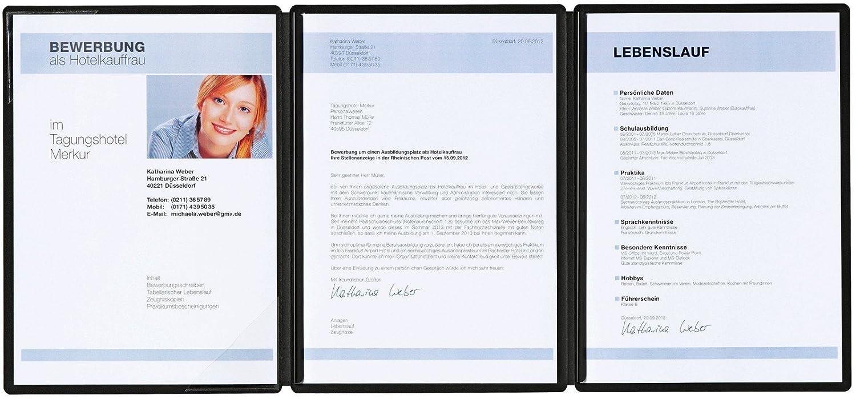 Pagna Bewerbungsmappe Square 3-teilig, aus satiniertem Premium-Karton mit 2  Klemmschienen: Amazon.de: Bürobedarf & Schreibwaren