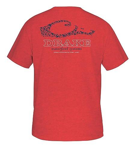 46335240 Drake Men's Logo Short Sleeve T-Shirt, Red Heather, XXX-Large