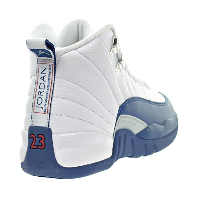 new style 46cc2 e259a Amazon.com   Jordan 12 Retro Bg Big Kids Style, White French Blue Metallic  Silver, 5.5   Basketball