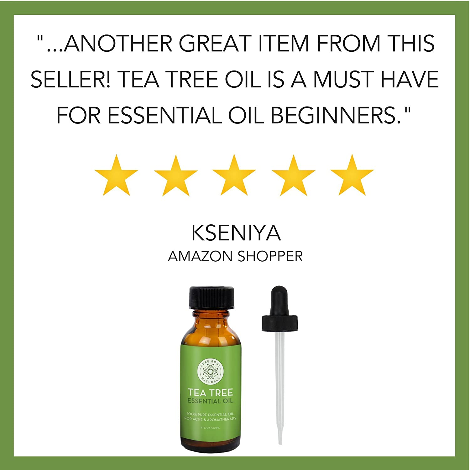 Tea Tree Essential Oil, Tea Tree Oil for Acne, Hair and Diffuser, 100% Pure  Melaleuca Oil by