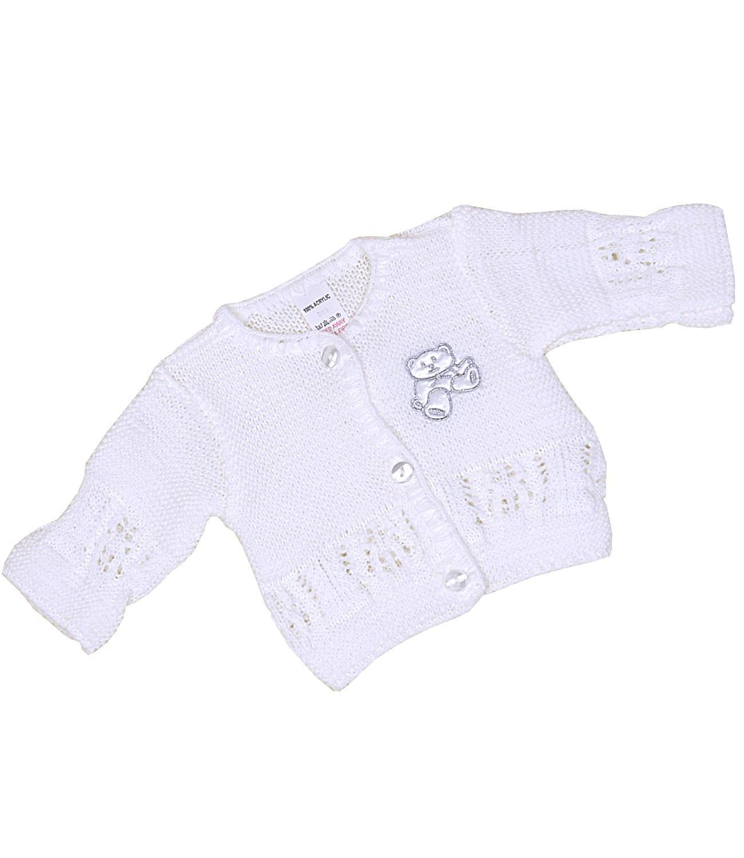Babyprem Baby Cardigan Jacket Acrylic Teddy Bear 1.5lb-6 mths
