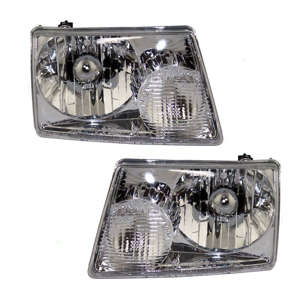 Driver and Passenger Headlights Headlamps Replacement for Ford Pickup Truck 6L5Z13008BA 6L5Z13008AA AUTOANDART.COM 4333010866