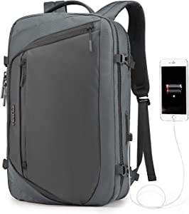 WindTook Laptop Backpack for Women and Men Travel Computer Bag School College Daypack with USB Charging Port Suits 15.6 Inch Notebook B00186 Gray