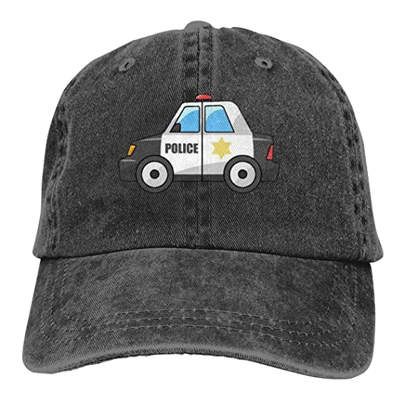 IconSymbol Classic Polo Style Baseball Cap Police Car Funny All ...