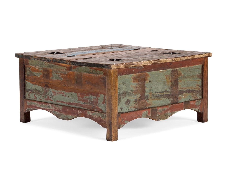Geräumig Wohnzimmertisch Holz Referenz Von Massivum Couchtisch Cruzar 90x45x90 Cm Recyceltes Bunt