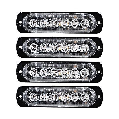 pair flashing lighting beacons p lights bulb truck lamp light hazard led strobe flash trucks for grille