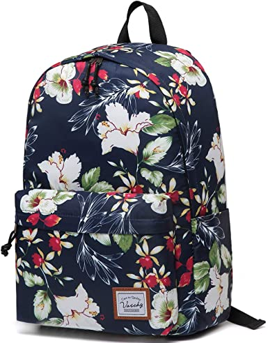 School Backpack for Teens Water Resistant Bookbags Lightweight Backpacks with Bottle Side Pockets