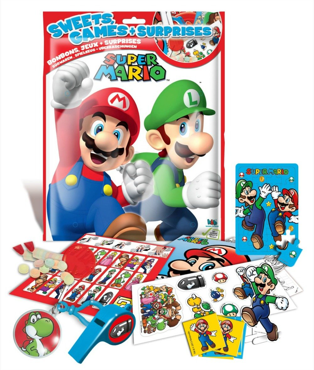 Amazon.com: Super Mario Big Surprise Bags Display (15) Other Dolci ...