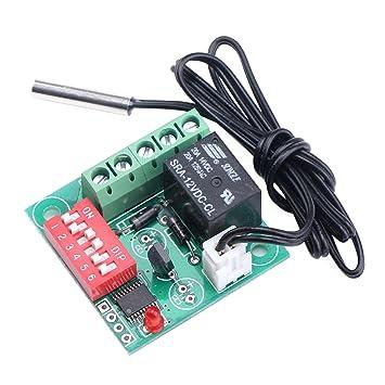 Droking Termóstato de calefacción / refrigeración digital de DC 12V Controlador de temperatura de 20-
