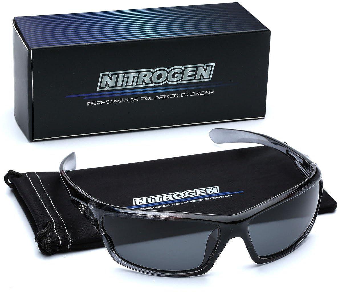 Polarized Wrap Around Sport Sunglasses