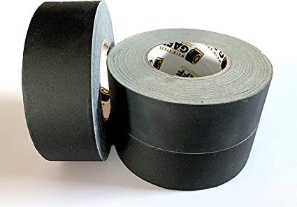 """1//2 CASE 8 PACK OF GAFFERS STAGE TAPE 3/"""" Inch X 60 YARD BLACK NO RESIDUE"""