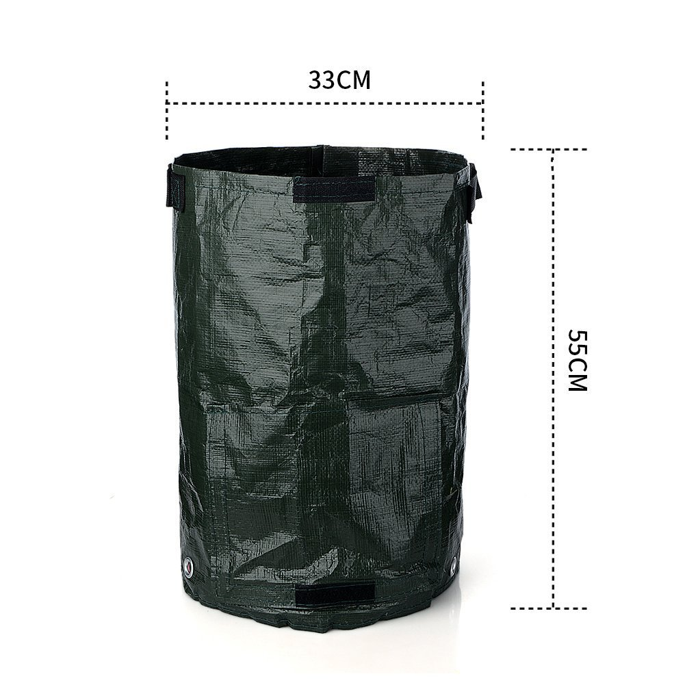 2 pcs Planter Bag,Gardening Spring Bucket ,Garden Waste Bag Gardening Trash Lawn Leaf Bag,Grow Bags,Gardening Bags, Pool Garden Leaf Waste Bag(10 gallon)