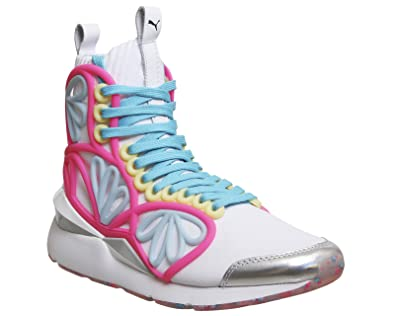 Puma SW Pearl Cage Mid White Knockout Pink - 5 UK  Amazon.co.uk ... 07bba89d5
