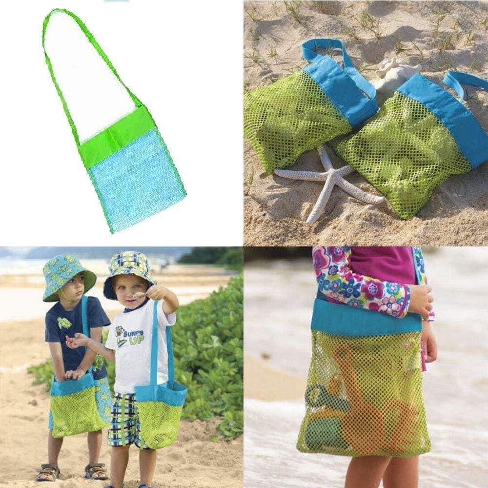 Deggodech Maglia Borsa da Spiaggia Rete con Cerniera Multifunzione Doppio Strato Mesh Tote Beach Bag Tracolla Borsa da Pranzo in Tela per Campeggio Viaggio Beach Picnic Organizer Nero