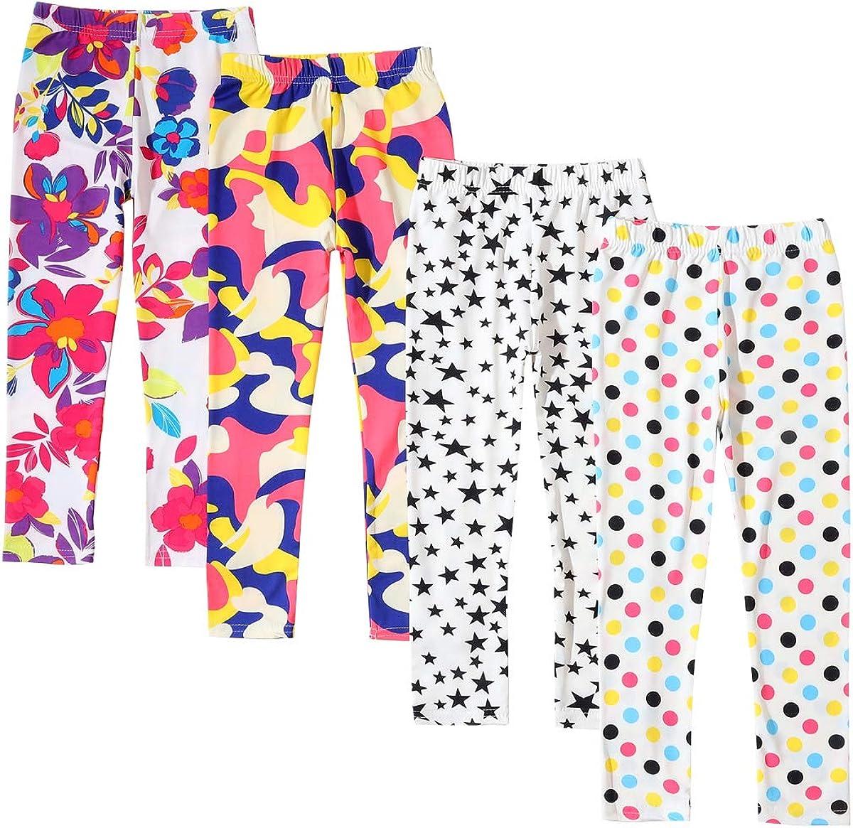 Mallas tobilleras para ni/ñas de 3 a 12 a/ños Allesgut paquete de 4 varios colores