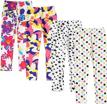 Allesgut - Mallas tobilleras para niñas de 3 a 12 años, paquete de 4, varios colores