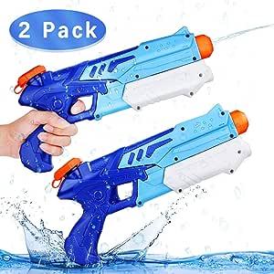 Ucradle 2 Pack Pistolas de Agua Chorro de Agua Squirt Gun, 300ML ...