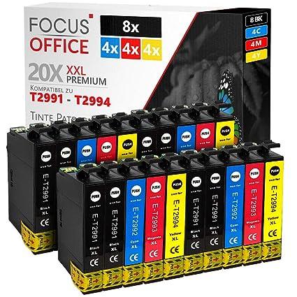 20 Cartuchos de Impresora para Epson T2991 Expression Home XP335 ...