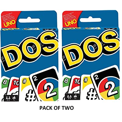 Uno Dos Card Game | Pack of Two: Toys & Games