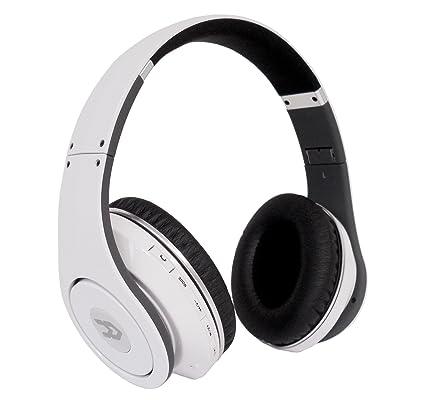 Avenzo AV611 - Auriculares de diadema cerrados con Bluetooth, blanco