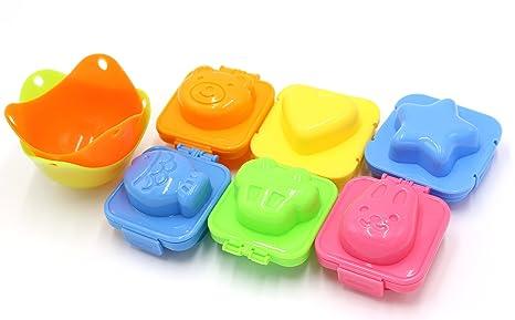 8 unidades – 6 pcs huevos Sushi Arroz molde Adorable conejo oso pez coche Star forma